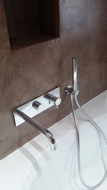 Rénovation de salle de bain en béton ciré à Vallet