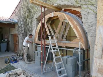 Création d'ouverture dans un mur de pierre proche de Nantes