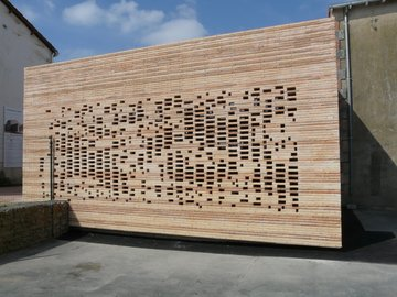 Habillage de façade de la Mairie de Chaillé