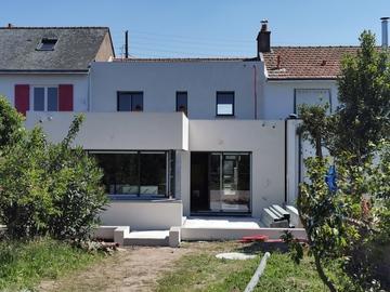 Agrandissement de maison en cours de réalisation à Nantes